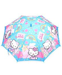 Hello Kitty Print Umbrella - Blue