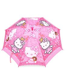 Hello Kitty Print Umbrella - Pink