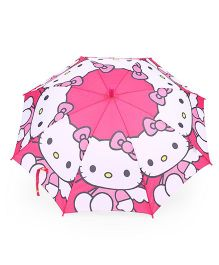 Hello Kitty Print Umbrella - Pink White