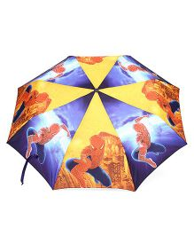 Marvel Spider Man Umbrella - Yellow Red Blue
