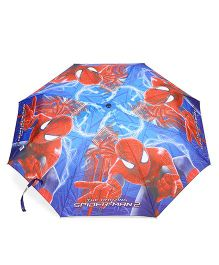 Marvel Spider Man Printed Umbrella - Red Blue