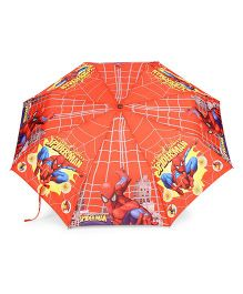 Spider Man Kids Umbrella With Whistle - Red