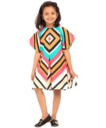 Moobaa Striped Kimono Dress - Multicolour