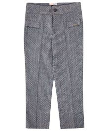 Moobaa Chevron High Waist Trouser - Grey