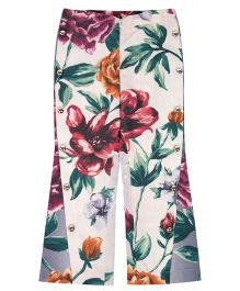 Moobaa Floral Printed Mid High Waist Trouser - Multicolour