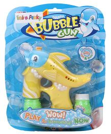 Fish Shape Bubble Gun With Solution - Yellow