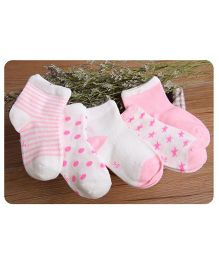Footprints Super Soft Organic Cotton Socks Pack of 5 - Pink