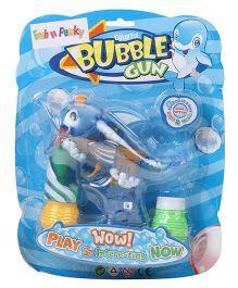 Fish Shape Bubble Gun With Solution - Blue