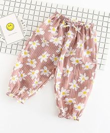 Pre Order - Awabox Floral Lounge Pants - Orange