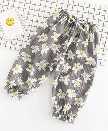 Pre Order - Awabox Floral Lounge Pants - Dark Grey