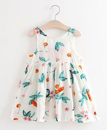 Pre Order - Awabox Fruit Print Dress - White