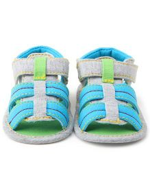Wow Kiddos Striped Casual Sandals - Sky Blue