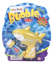 Shark Shape Bubble Gun With Solution - Yellow