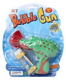 Animal Shape Bubble Gun With Solution - Green
