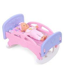 Baby Doll With Bed - Pink Blue