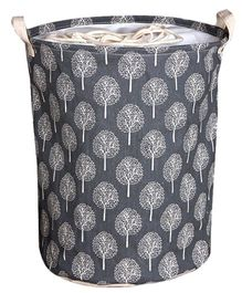 EZ Life Tree Printed Laundary Basket Organizer - Black