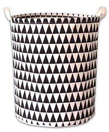 EZ Life Triangles Printed Laundary Basket Organizer - Black & White