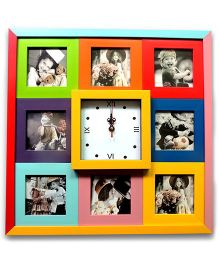 EZ Life Photos & Clock Wall Frame - Multicolor