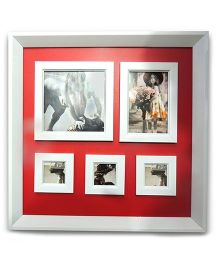 EZ Life Photo Frames & Magnetic Board Organizer - Red & White