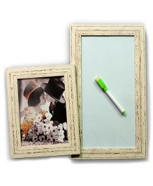 EZ Life Photo Holder & White Board Planner - Cream