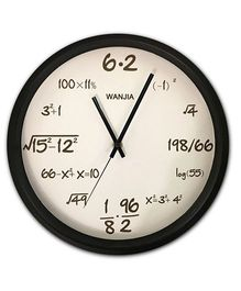 EZ Life Math Genius Clock - White & Silver