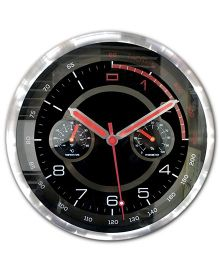 EZ Life Motor Sports Dashboard Wall Clock - Black & Silver