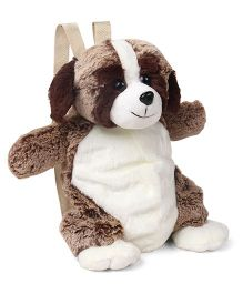 Starwalk Soft Toy Puppy Backpack Brown - Height 13 inch