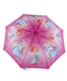 Disney Princy 3 Fold Umbrella - Pink Blue