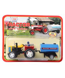 Centy Pull Back Tractor With Tanker Toy -  Yellow Red Blue