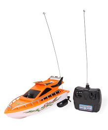 Remote Controlled Racing Boat - Orange White