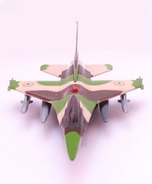 Centy Pull Back F 16 Fire Blade Toy Air Force 2 - Military Green Black & Brown