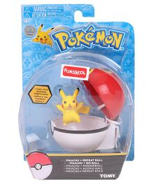Pokemon Clip n Carry Poke Ball - Yellow Red