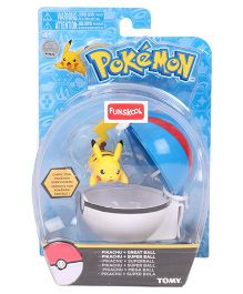 Pokemon Clip n Carry Poke Ball - Yellow Blue