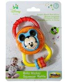 Disney Mickey Mouse Squeezer Rattle - Multicolor