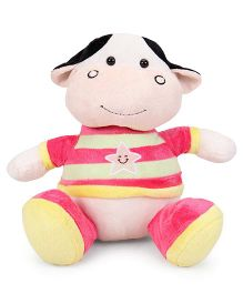 ABC Plush Animal Frog Soft Toy Pink - 28 cm