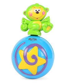 Mitashi Sky Kidz Monkey Roly Poly Musical Ball - Blue & Green