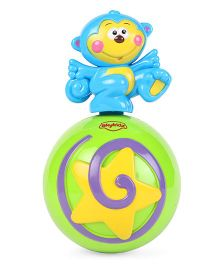 Mitashi Sky Kidz Monkey Roly Poly Musical Ball - Green & Blue