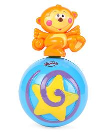 Mitashi Sky Kidz Monkey Roly Poly Musical Ball - Orange & Blue