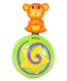 Mitashi Skykidz Teddy Roly Poly Musical Ball - Green & Orange