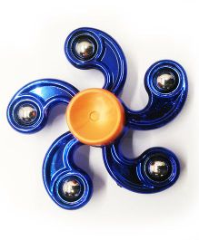 Emob 2 in 1 Tornado Hand Spinner BeyBlade Fidget Toy With Strip & Bottom Tip - Blue