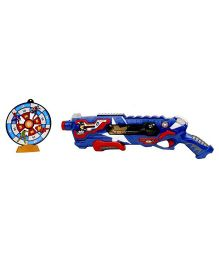 Emob Civil War Blaster Super Hero Battery Operated Soft Bullet Battle Gun With Light and Sound Effect - Blue