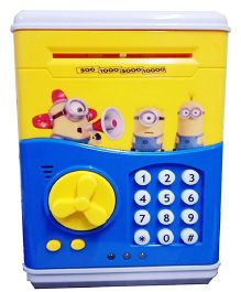 Emob Mini Electronics Cartoon Design Secret Password Money Safe Coin Bank - Yellow