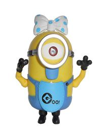Emob Mini Female Minions Musical Action Figure Yellow Blue - 12 cm
