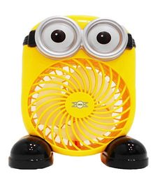 Emob Minions Cartoons Theme Rechargeable Air Circulation Portable Fan - Yellow