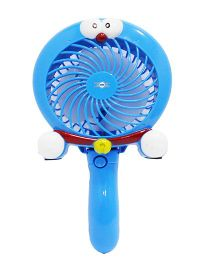 Emob Two In One Handheld Portable Rechargeable Mini Air Circulation Fan - Blue