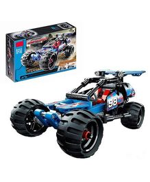 Emob Off Roader Racer Car Block Set With Pull Back Technique Blue - 160 pieces