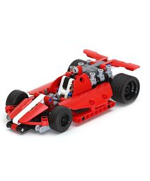 Emob Dazzling Racing Car King Steerer Block Set Red - 158 Pieces