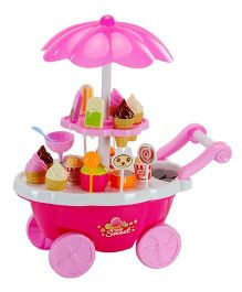 Emob Candy Cart Sweet Shop With Light And Music Pink - 39 Pieces
