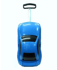 Emob Porsche Car Shape Travel Model Pull Along Trolley - Blue