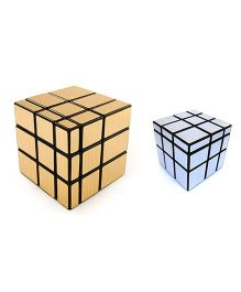 Emob Magic Rubik Cube Puzzle Combo Pack Of 2 - Silver Gold